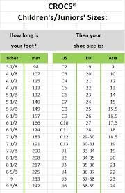 Crocs Size Chart