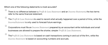 Solved Which One Of The Following Statements Is Most Accu