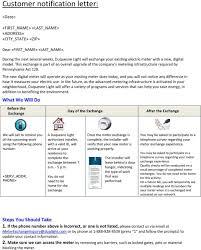 Duquesne Light Smart Meter Problems Meter Exchange Program Community Information Packet Pdf