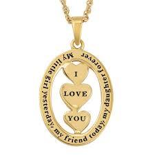 my daughter i love you diamond pendant