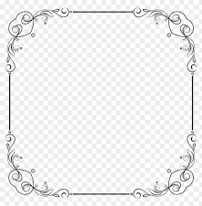 white border frame png free png