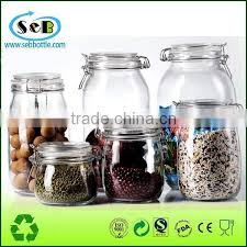 clear kitchen food storage airtight seal lock lid jar glass jar with metal clip of plastic series from china suppliers 152396188