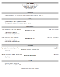 Resume Example 25 Free Resume Creator