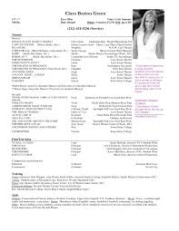 Resume Examples For Actors Wonderful Acting Resume Sample 14