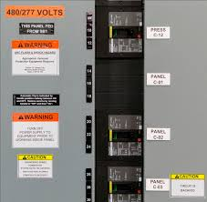 safety labels for electrical equipment facilities management