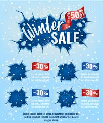 Winter Sale Template Layout Design For Email Marketing Advertising