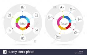 6 Piece Pie Chart Template Modern Infographic Template Pie Charts With 6 Steps