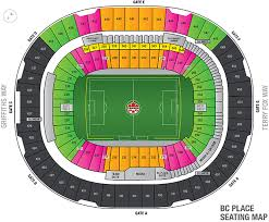 Bc Place Interactive Seating Chart Canada Soccer