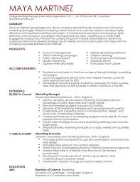 Sales And Marketing Manager Resumes Marketing Manager Resume Template Sales And Marketing Manager Resume