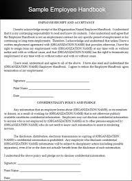 handbook template employee handbook template tryprodermagenix org