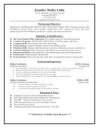 Sample Resume For Medical Billing Medicalng Sample Resume Ar Format