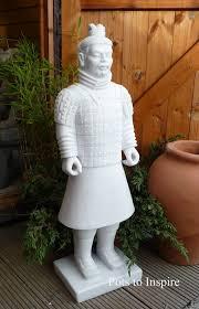chinese warrior home or garden statue
