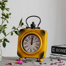 vintage exquisite desktop clock home decoration retro relogio de mesa retro living room cool electronic desk