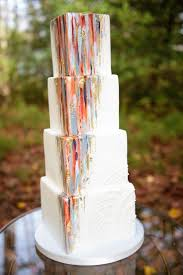 Designed By Sweet Fix This Contemporary Wedding Cake Mixes The