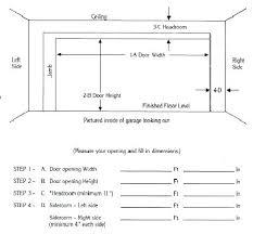 residential garage door size average garage door width garage door width average standard garage door width
