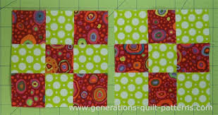 Making Nine Patch quilt blocks is as easy using just two squares! & The two finished nine patch quilt blocks Adamdwight.com