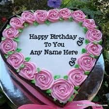 Add Name Photo On Birthday Cake