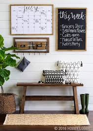 rustic office decor. office decor rustic farmhouse style command center with wood bench chalkboard and graphic baskets r