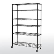 mobile wire shelving 6 tier