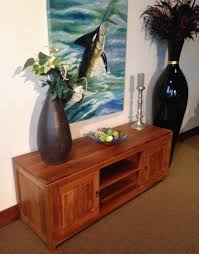waxed teak santa barbara media center la place usa furniture patio x full
