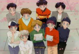 It might be a funny scene, movie quote, animation. 90s Anime Exo Ladder C Royalxiumimi On We Heart It