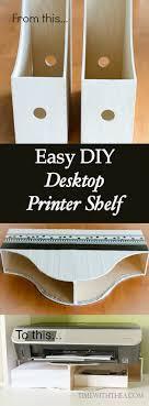 home office desk organization ideas. easy diy desktop printer shelf home office desk organization ideas
