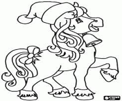 Kleurplaat Een Paard Met Kerstmis Kleurplaten