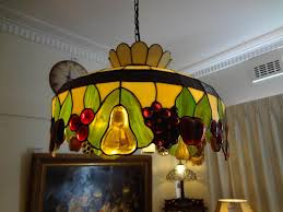 image of tiffany ceiling lights with blueberries image of tiffany ceiling lights stained glass