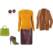 Warm <b>Autumn</b> - yellow, <b>plum</b> and green inspiration