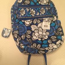 Hobby Lobby Pattern Sale Amazing Best Nwt Vera Bradley Tech Backpack And Lanyard Blue Bayou Pattern