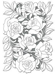 Small Picture 136 best Roses to Color images on Pinterest Coloring books