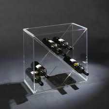 design wine rack cubex and cubeu made of acrylic glass