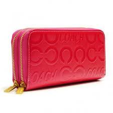 ... coach in signature large fuchsia wallets arx