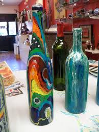 Susan Jenkins Morning Paintings: Wine Bottle painting for the Wine Festival