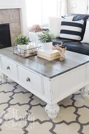 farmhouse style coffee table with thrifty and chic diy projects home decor design 7