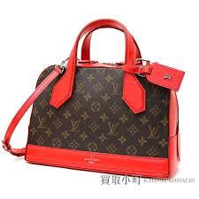 kaitorikomachi louis vuitton m40274 gong pm monogram rico 2way shoulder bag handbag red leather lv dora pm monogram red cowhide rakuten global