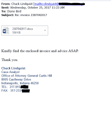 Office Invoice Fake Invoice Sent By Scammers Impersonating Office Of Attorney