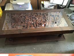 Japanese Coffee Tables Japanese Hand Carved Coffee Table And End Tables Antique Appraisal