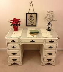 shabby chic office desk. shabby chic annie sloan chalk paint desk with chippy by furniture alchemy distressed office
