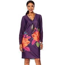 N Natori Size Chart N Natori Printed Double Knit Tunic Dress