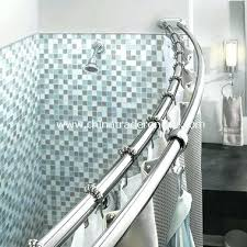 straight double shower curtain rod double rod shower curtain adjule double curved chrome shower rod from