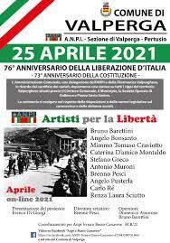 25 APRILE 2021 - 76° ANNIVERSARIO DELLA LIBERAZIONE D'ITALIA - 73°  ANNIVERSARIO DELLA COSTITUZIONE - Comune di Valperga