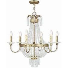 valentina 6 light winter gold chandelier