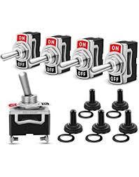 nilight heavy duty rocker toggle switch 15a 250v 20a 125v spst 2 pin on off
