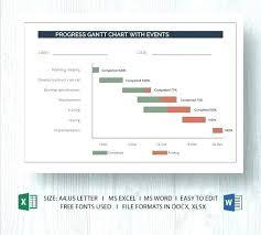 Fundraising Progress Chart Progress Chart Template Excel Fundraising Chart Template