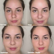 a picture of before after diorskin forever perfect makeup broad spectrum 35 and