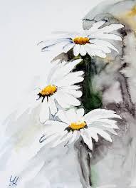 saatchi art daisies original watercolour painting 28x38 cm painting by yuriy kraft