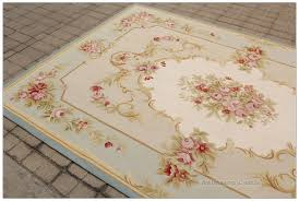 5x8 light blue cream french aubusson rug shabby pink chic