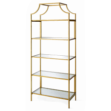 better homes and gardens nola bookcase gold finish