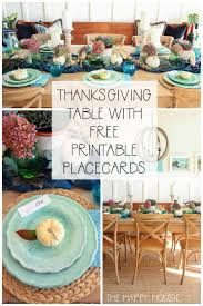 Fall Place Cards Cozy Plaid Fall Thanksgiving Tablescape With Printable